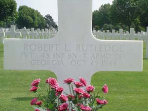 image of rutledge grave marker